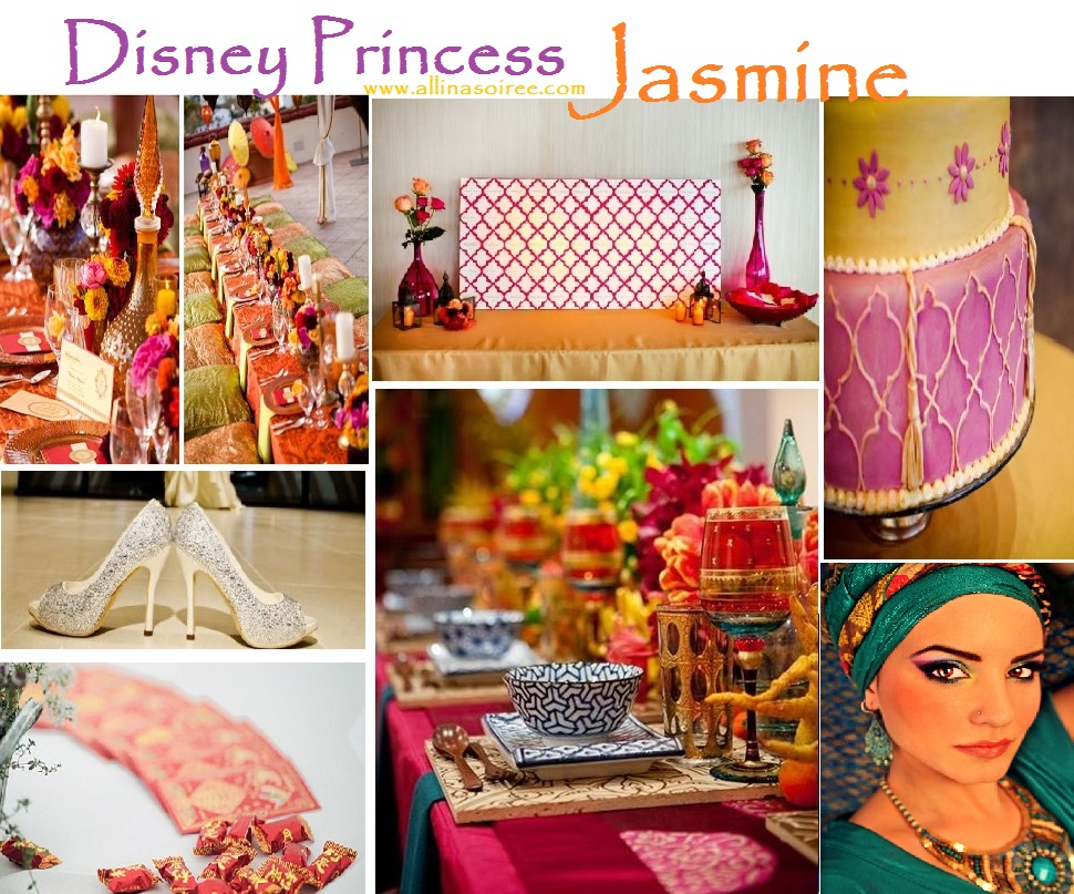 Disney Princess Jasmine Inspiration Board
