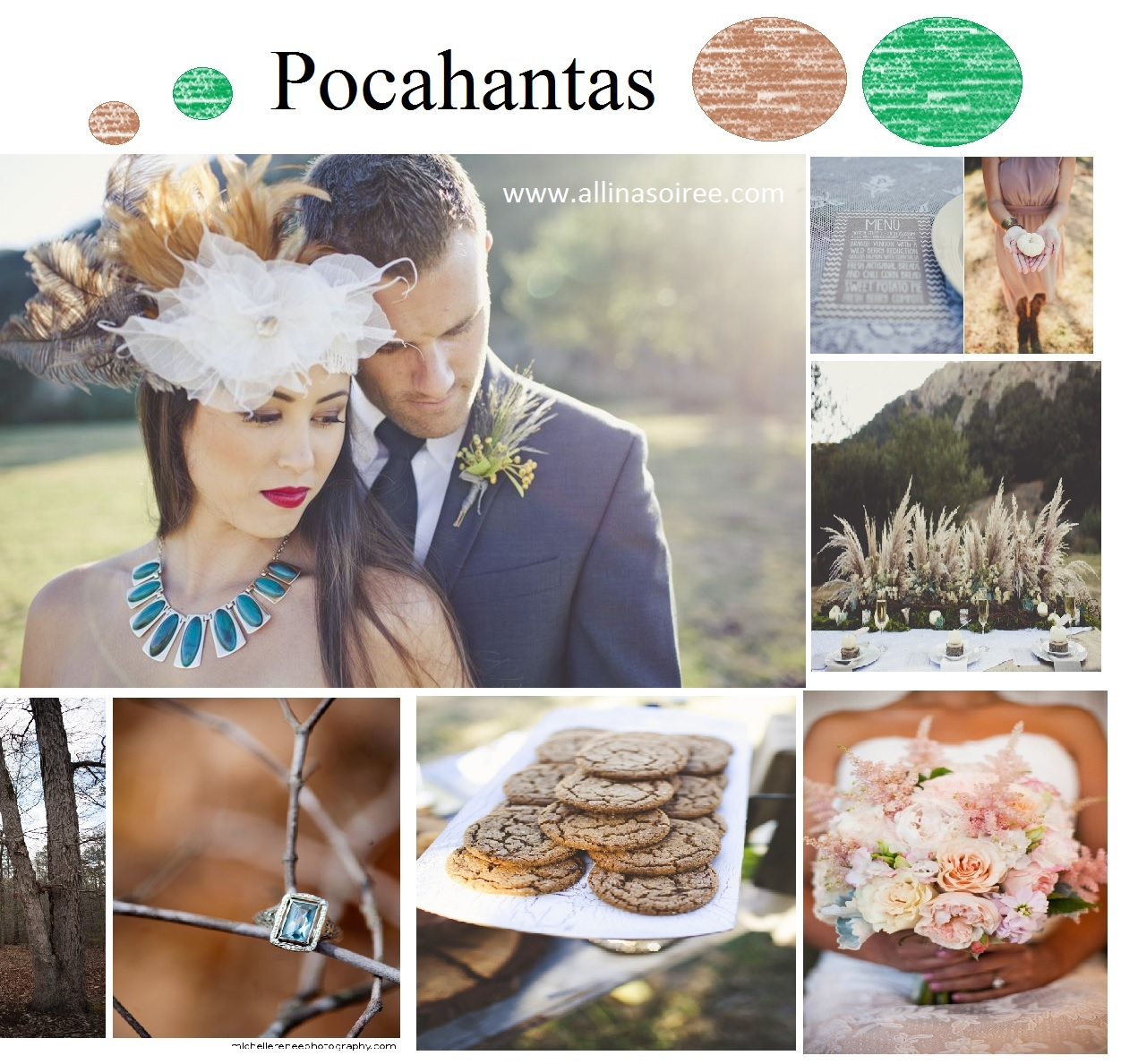 pocahantas wedding ideas / www.allinasoiree.com
