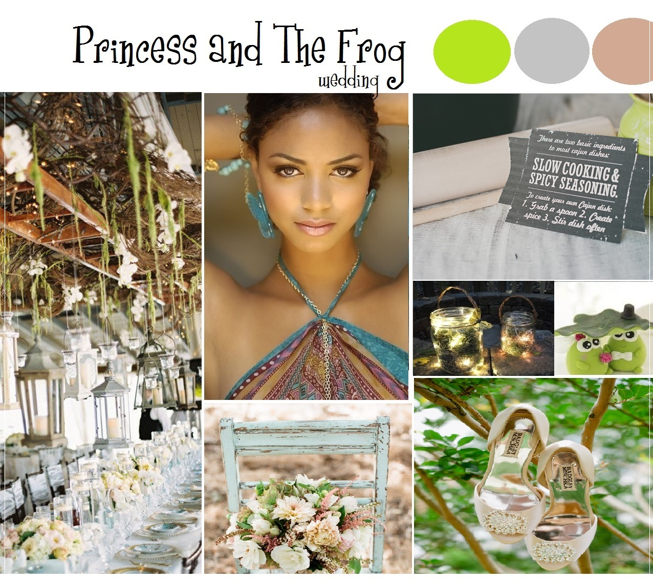 princess and the frog wedding inspiration/ www.allinasoiree.com