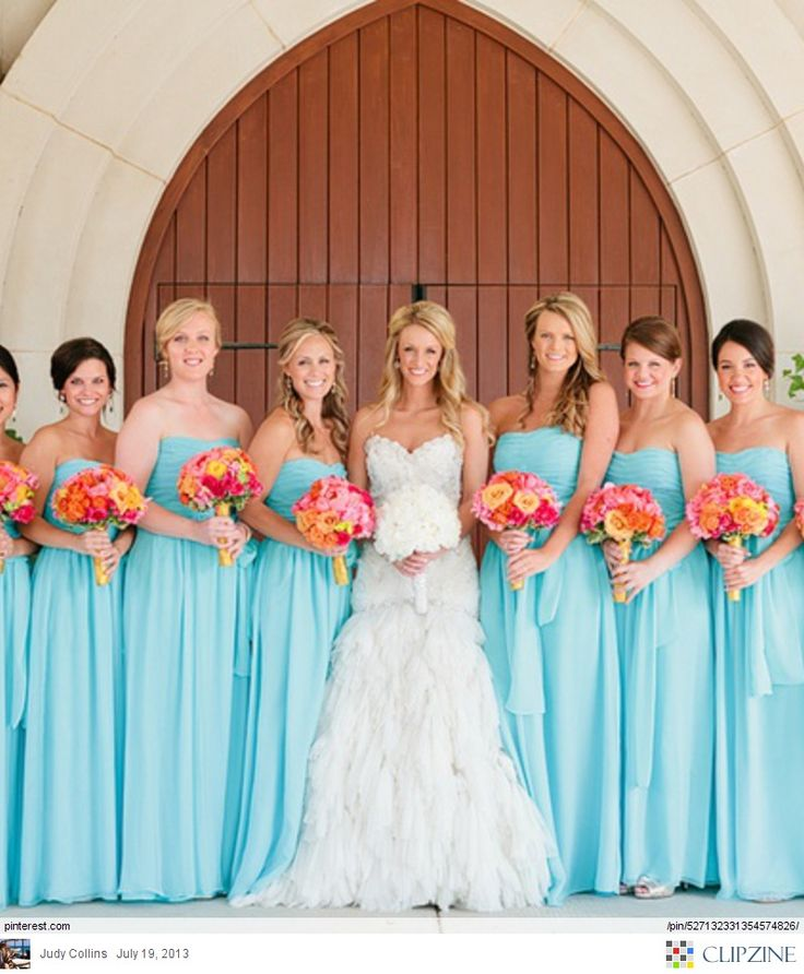 Tips On How To Diffeiate Your Bridesmaids Style Www Allinasoiree Board Teal Blue Aqua Weddings