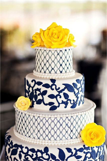 Colorful blue wedding