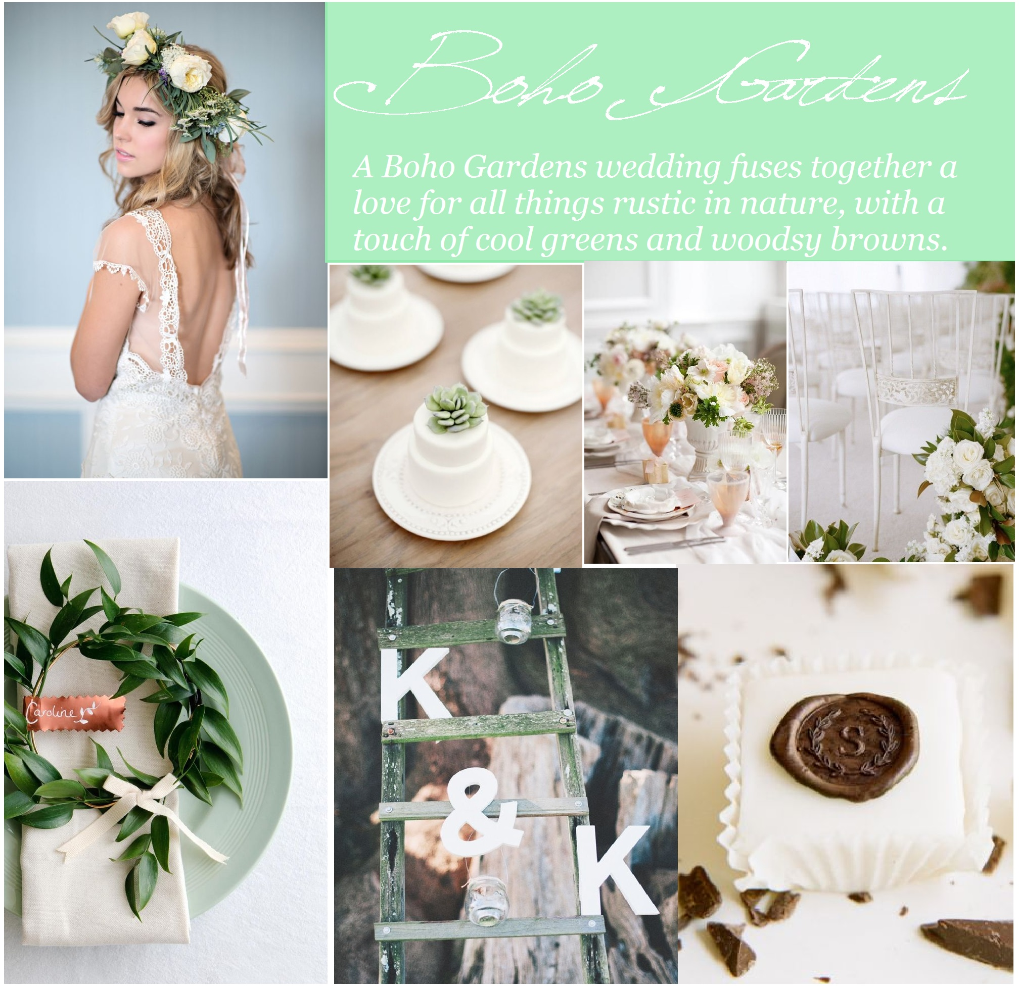 boho gardens wedding inspiration