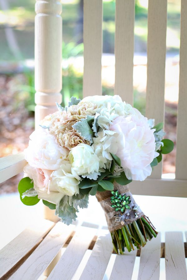 burlap wedding bouquet