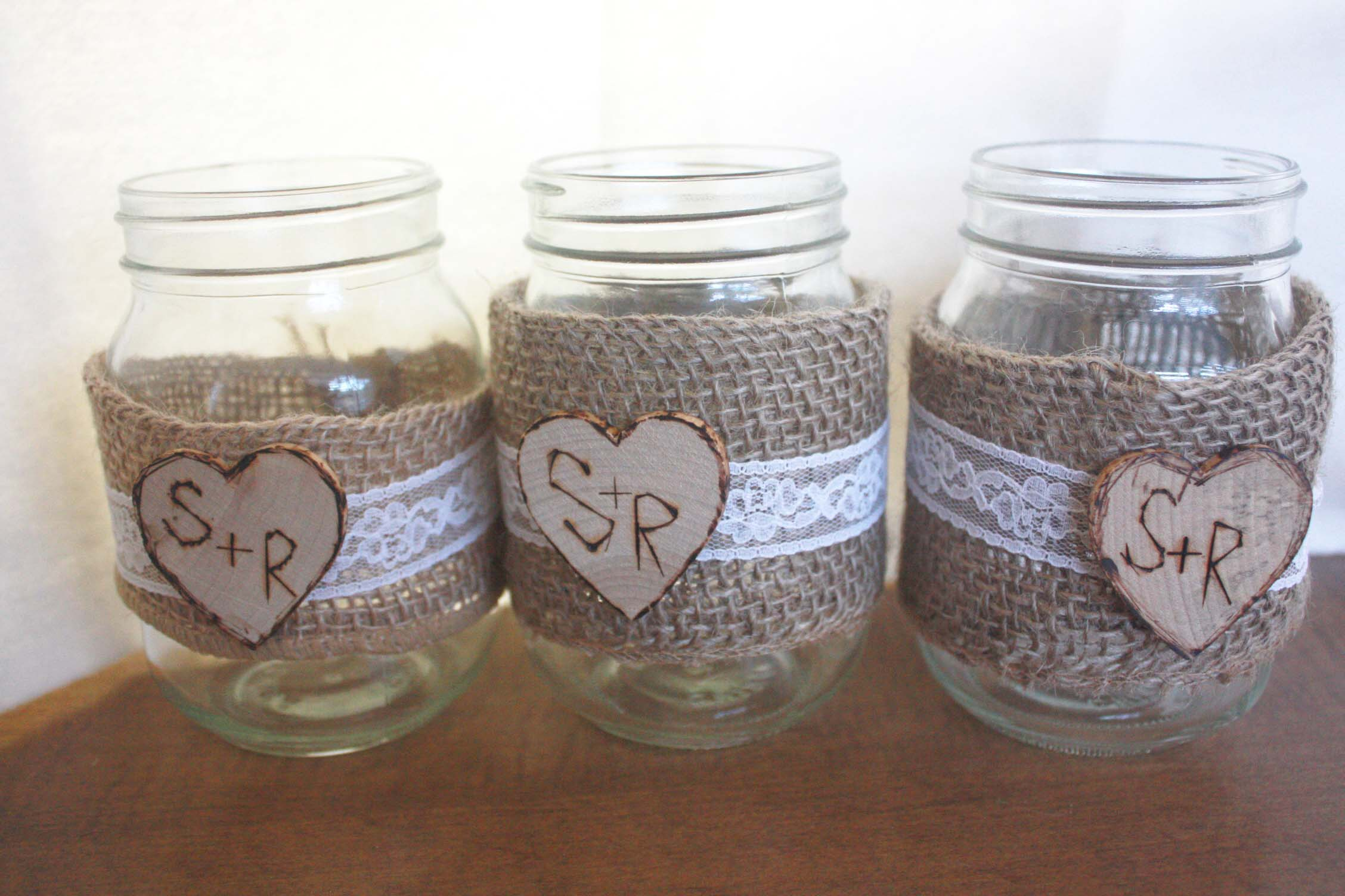 shabby chic mason jar decorations