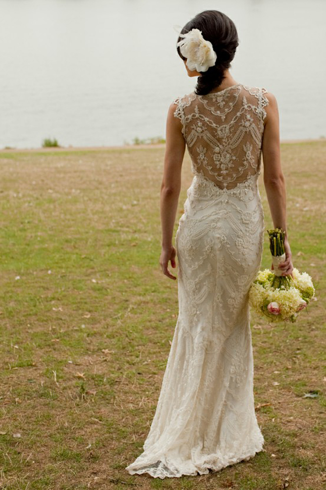 Photos Of Lace Wedding Gowns : Gorgeous lace back wedding dresses