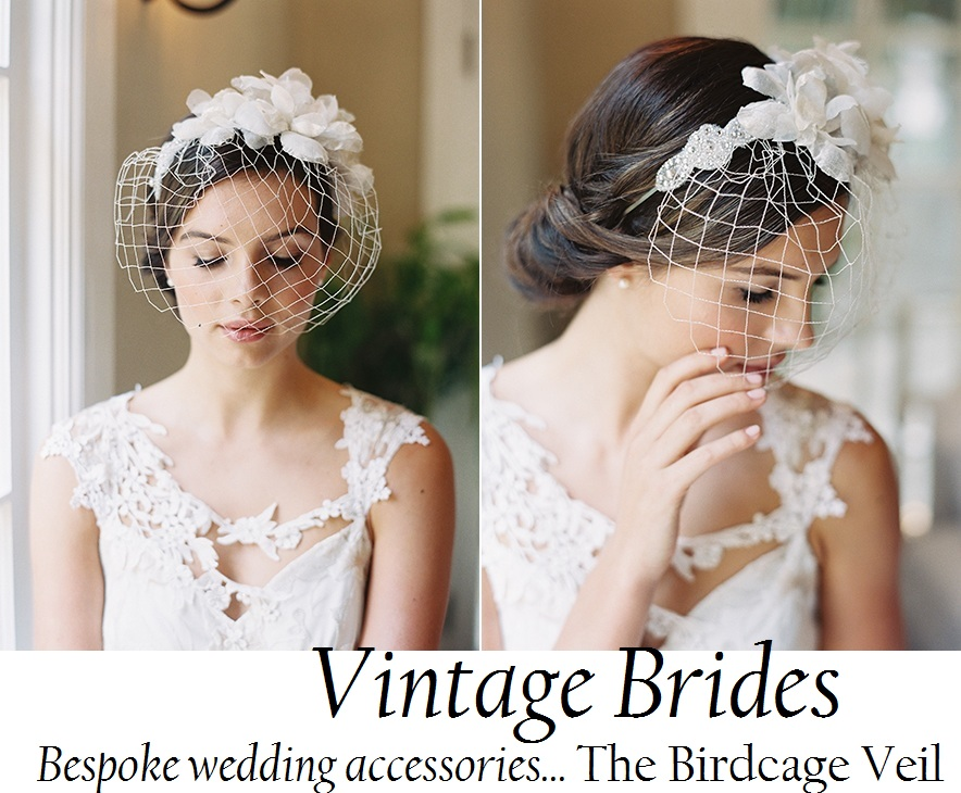 Are vintage wedding hairstyles with birdcage veil