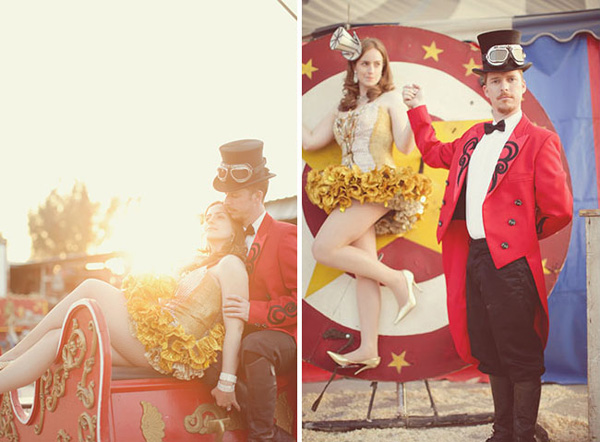 circus themed engagement session