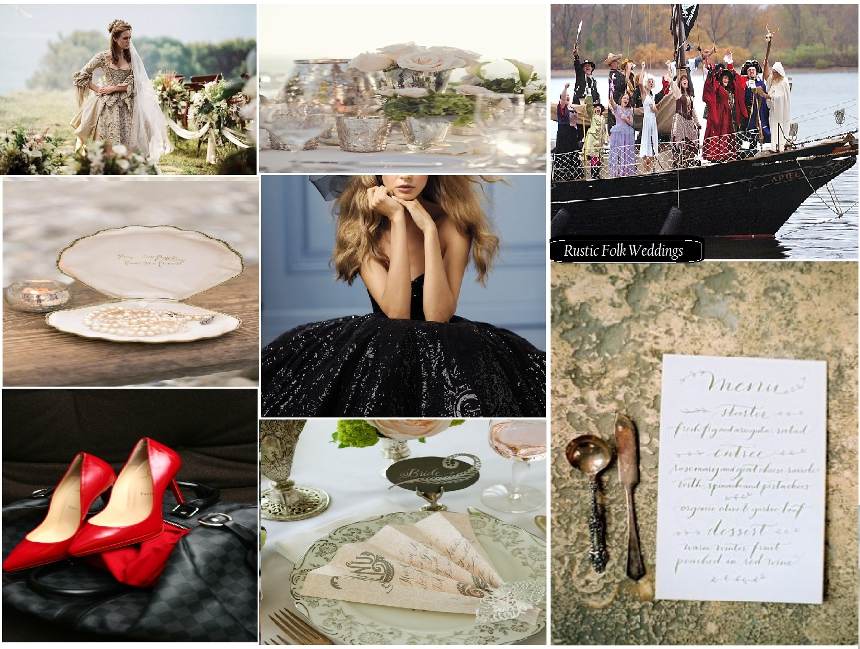 Pirates of the Caribbean Wedding Inspiration Board