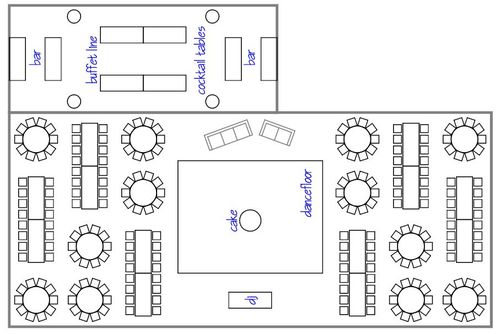 Reception layout ideas home design elements for Wedding tent layout tool