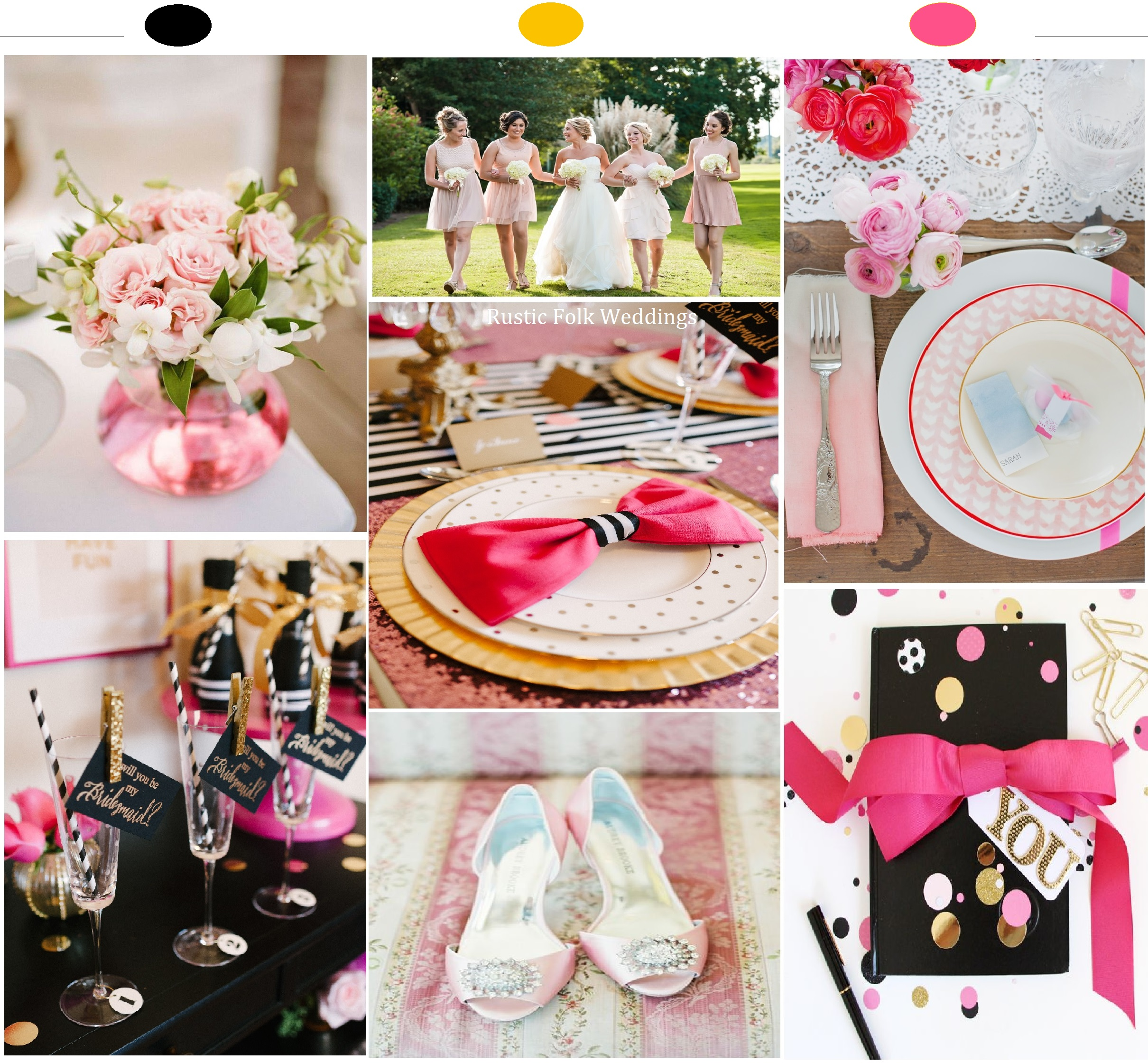 Pretty in Pink Wedding Inspiration Board 4