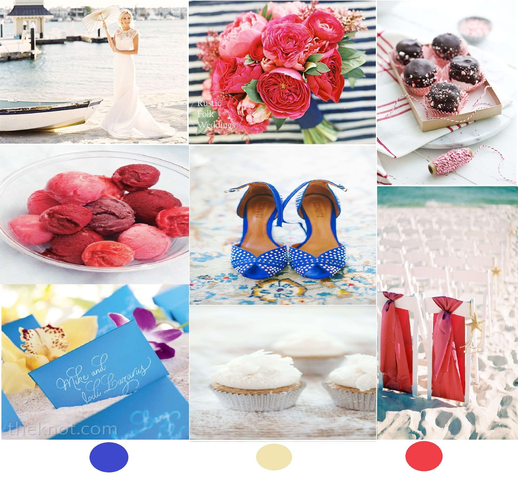 Nautical Seaside Wedding Inspiration Board