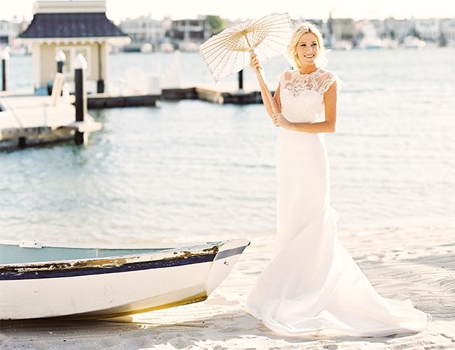 nautical seaside wedding inspiration