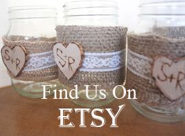 rustic wedding design on Etsy