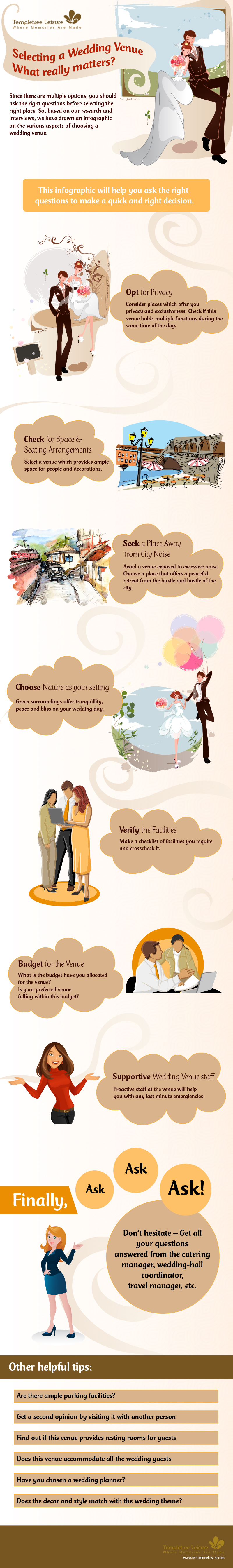 tips for selecting a wedding venue templetree-infographic
