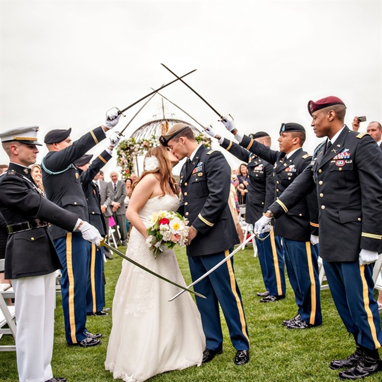 Today We Salute Our Heroes! 5 Military Weddings