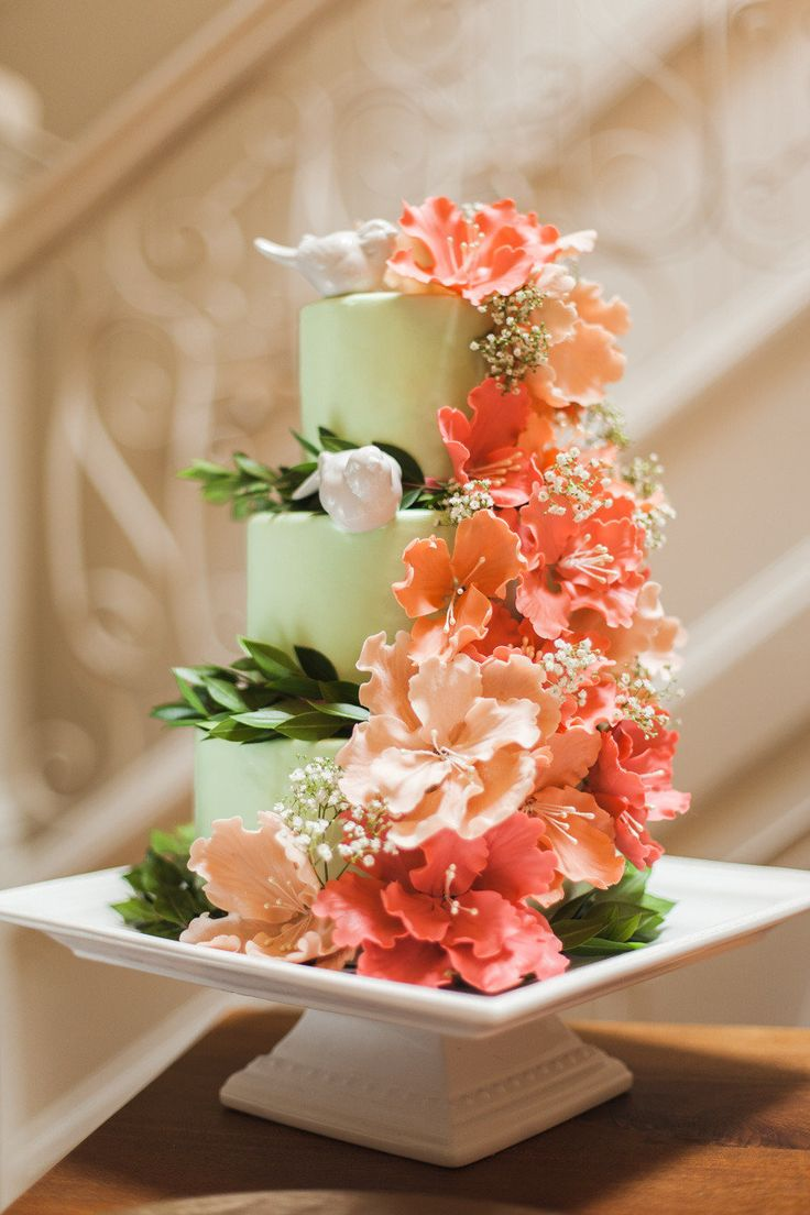 green wedding cake ideas