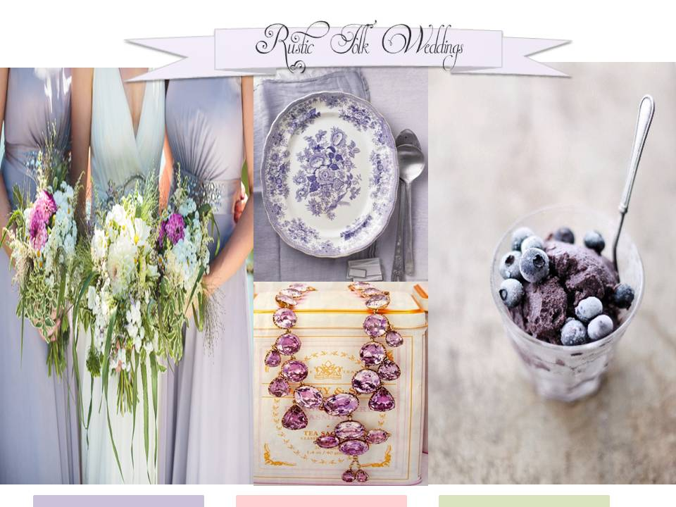 lilac wedding inspiration board