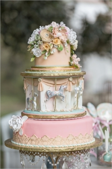 pink wedding cake design