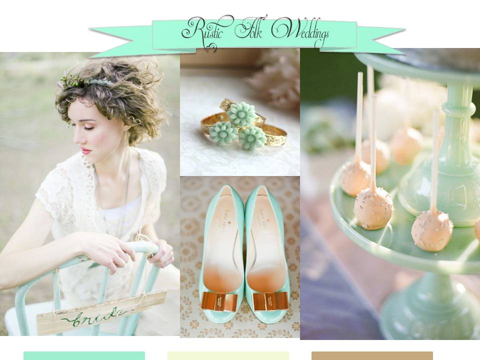 Rustic Mint Wedding Inspiration Board