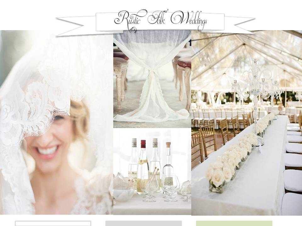 white wedding inspiration board