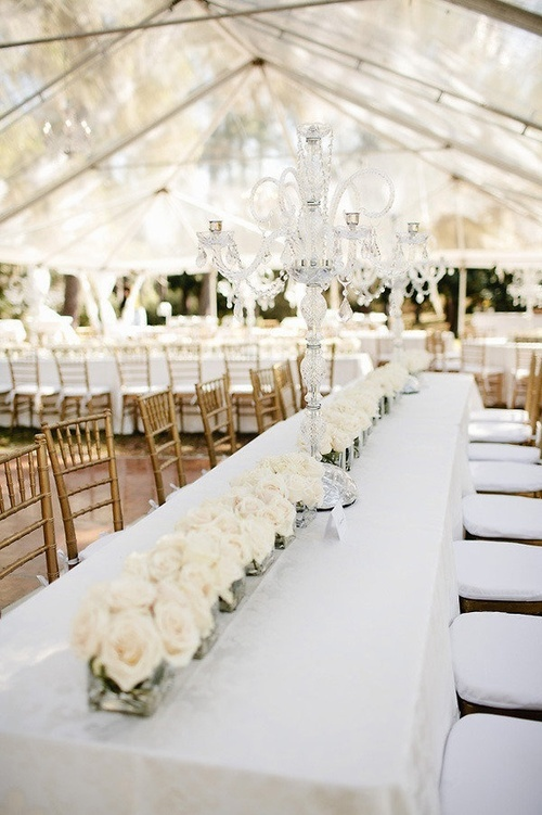 Outdoor etheral radiance white wedding for White wedding table decorations