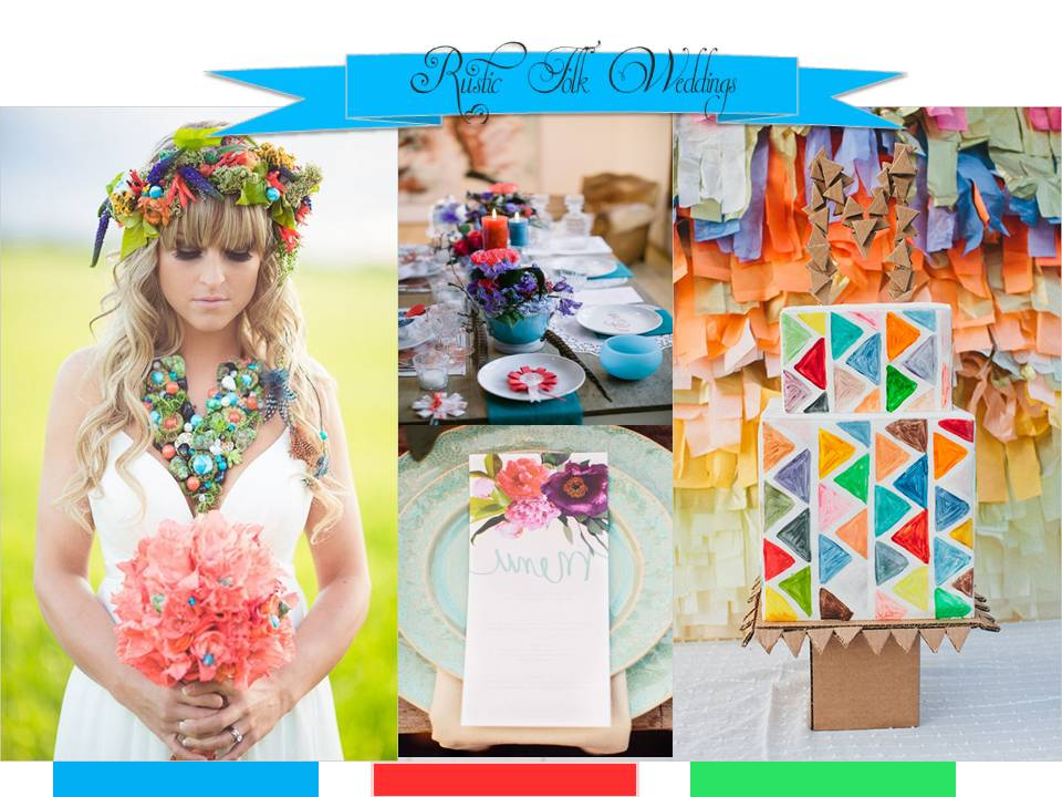 Colorful Bohemian Meadow Wedding