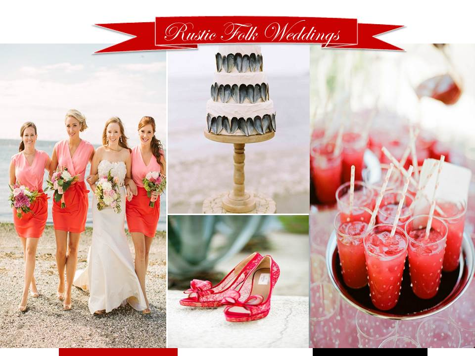 Ruby Red Beachside Wedding