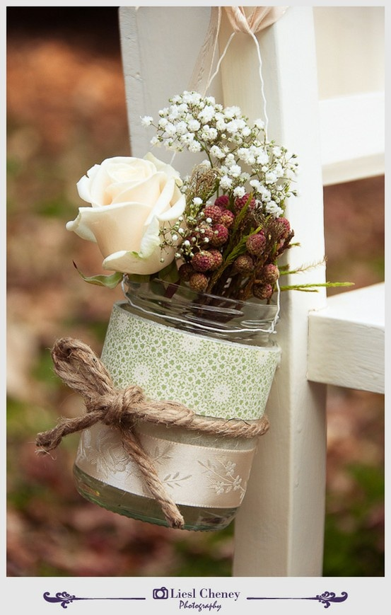 10 Rustic Wedding Ideas Using Mason Jars