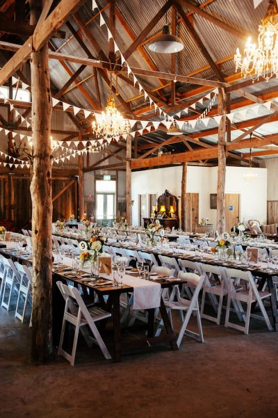 rustic barn wedding reception l Rustic Folk Weddings