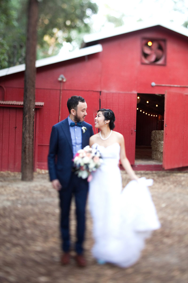 Pink and white Calamigos ranch wedding