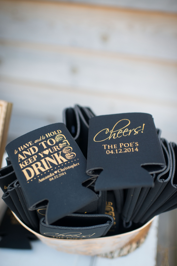 Black and gold wedding cosies l Megan Forehand Photography