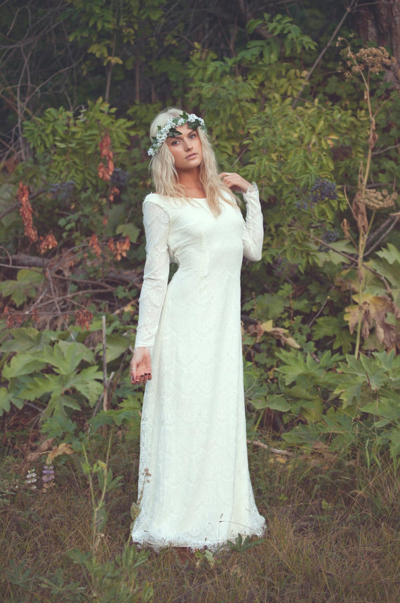 Bohemian wedding dresses for Bohemian white wedding dress