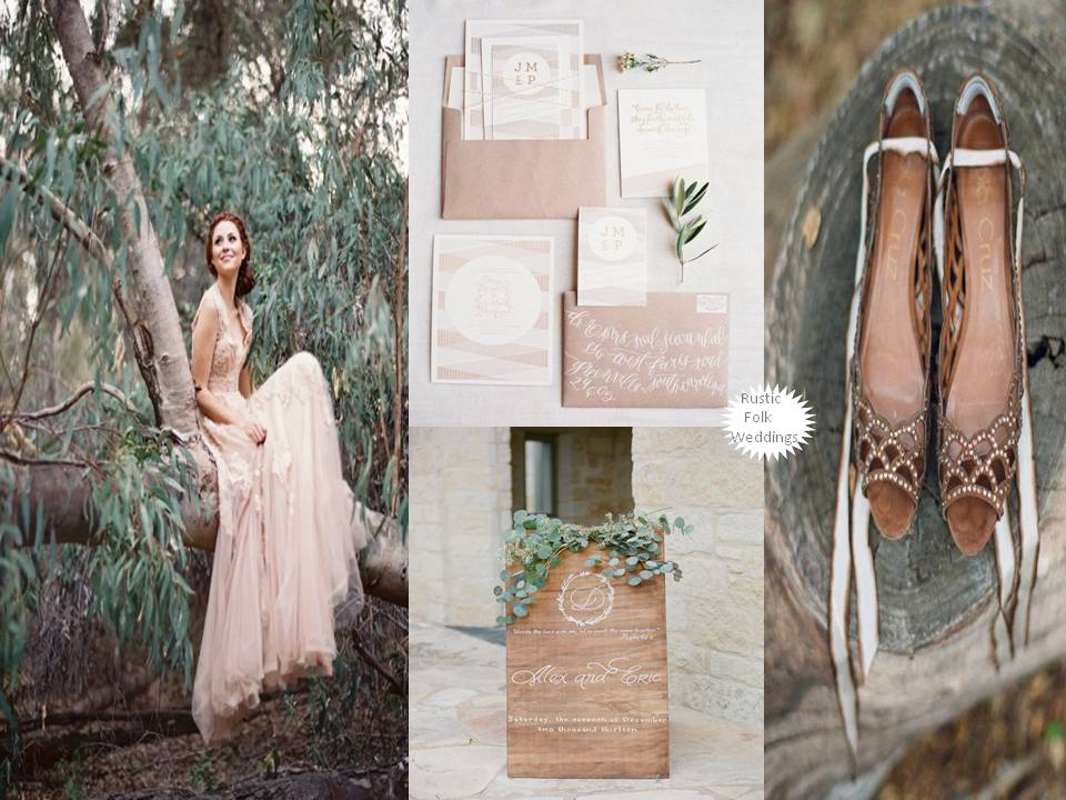 Enchanting rustic outdoor wedding