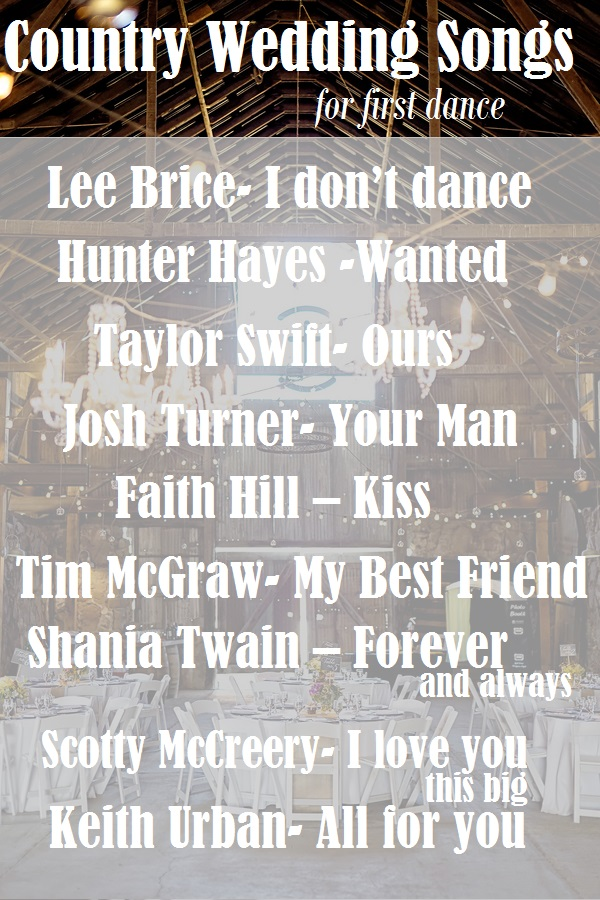 Songs To Walk Down The Aisle Top Country Wedding Songs1