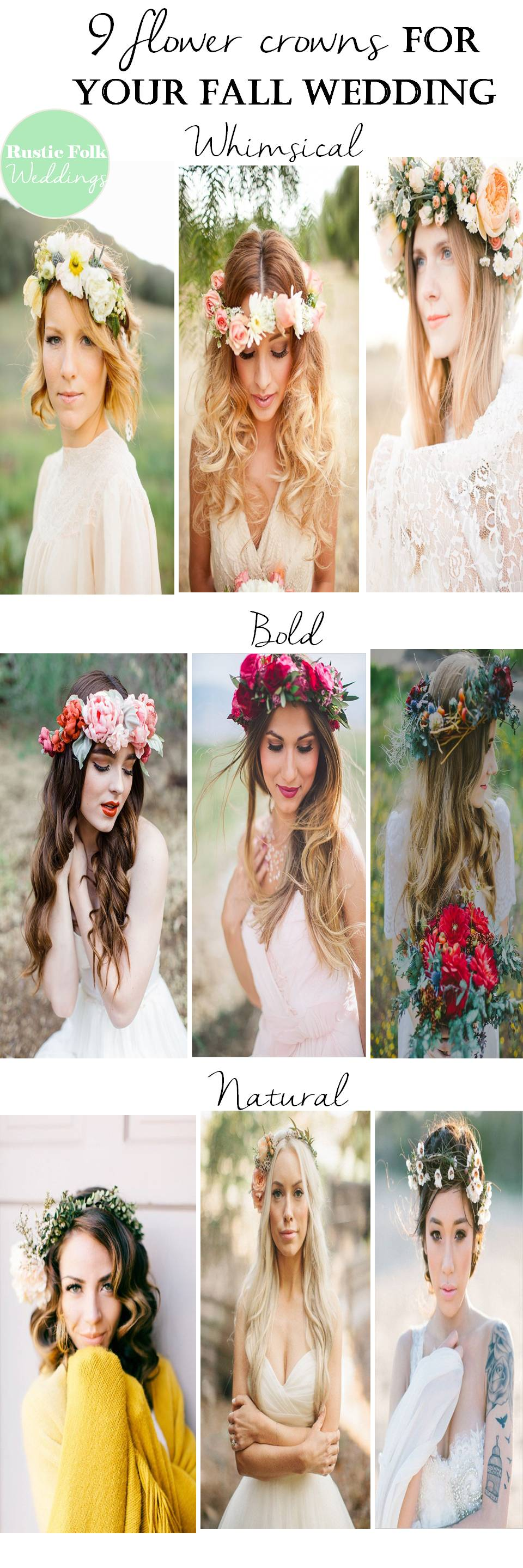 9 flower crowns for your fall wedding rustic folk weddings 9 flower crowns for your fall wedding izmirmasajfo
