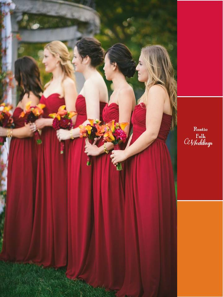 5 Fall Wedding Color Palettes 2