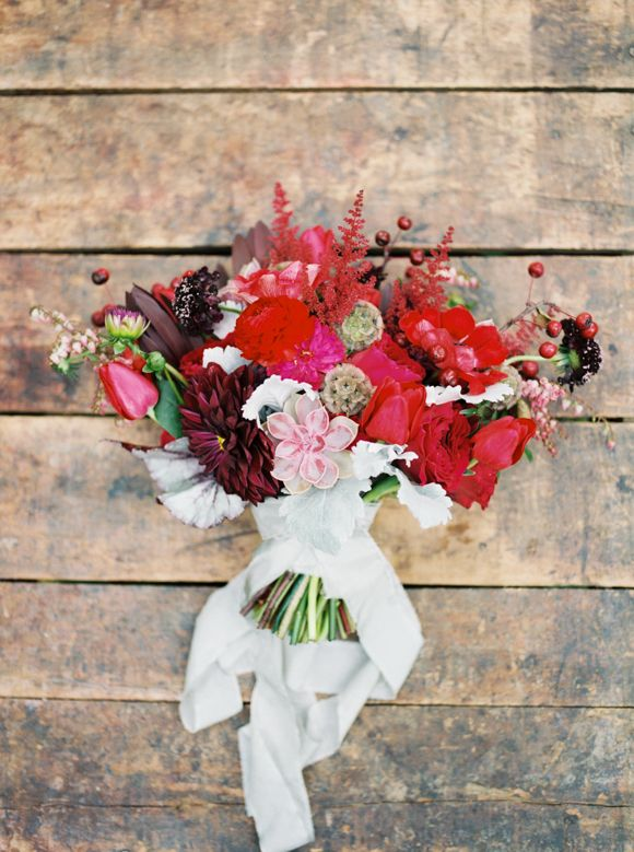 Rosy wedding bouquet / Jake Anderson Photography/ See more on Rustic Folk Weddings