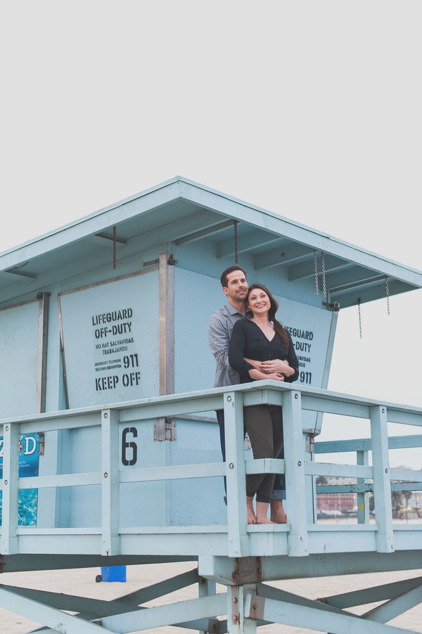 Fun-filled engagement session. Melvin Gilbert Photography : See more on Rustic Folk Weddings http://www.rusticfolkweddings.com/2015/01/07/santa-monica-beach-engagement-session/