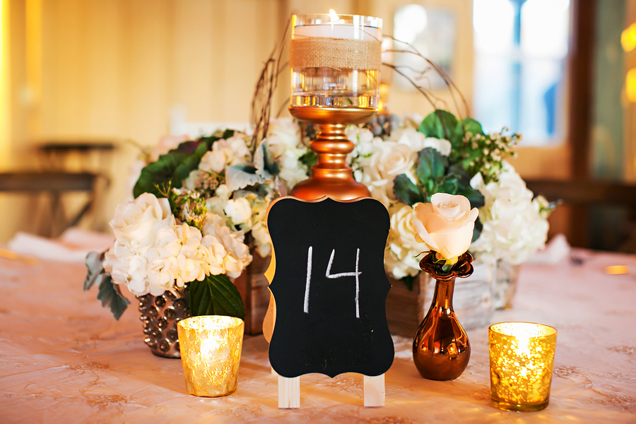 chalkboard table numbers / Rustic Folk Weddings
