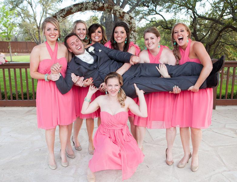 hilarious wedding party photo