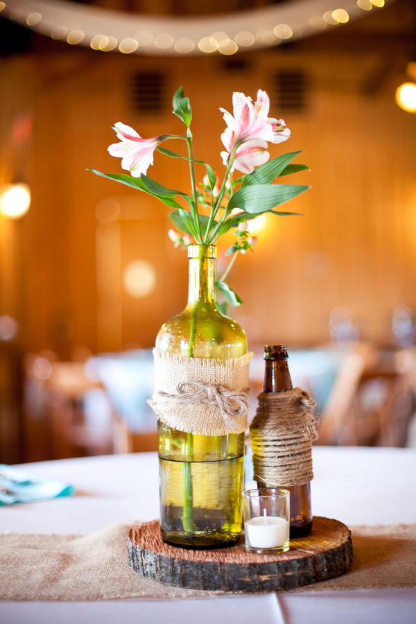 wine rustic centerpiece