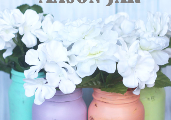 DIY Distressed Mason Jar & Giveaway!