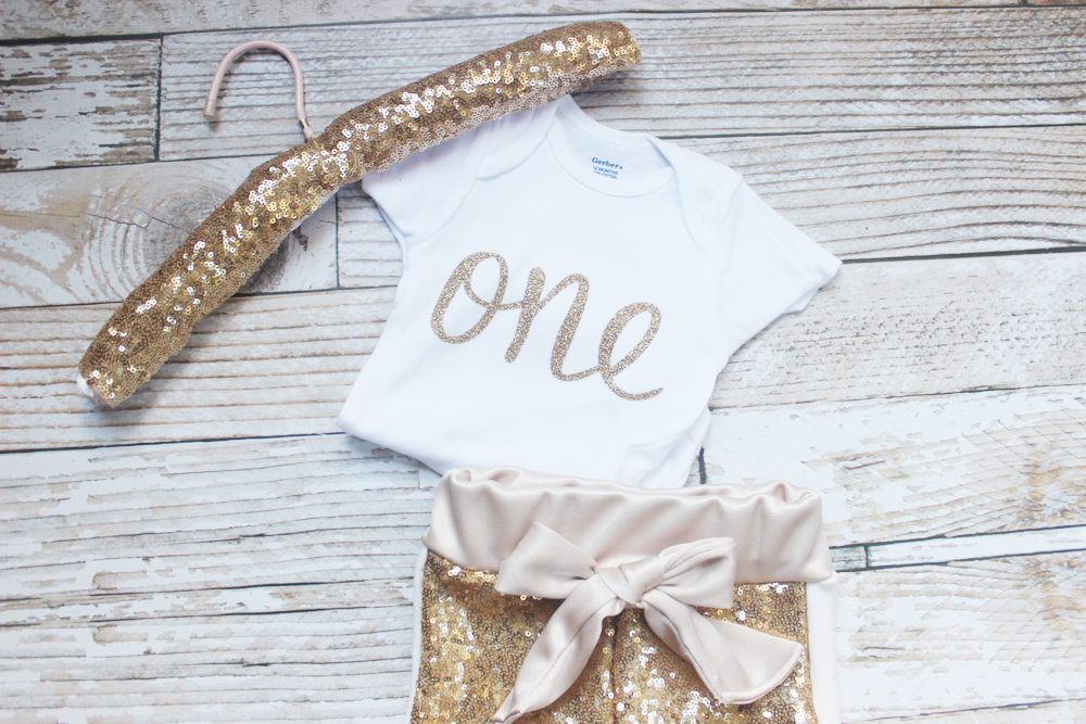 Sequin first birthday outfit